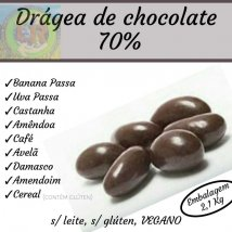 Drágeas de chocolate a granel