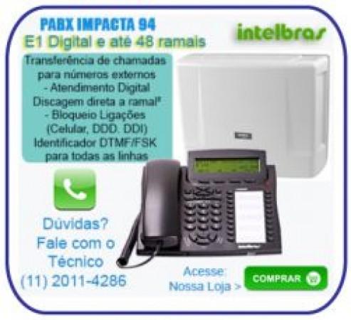 Pabx Digital Impacta 68i Intelbras (11) 2011-4286