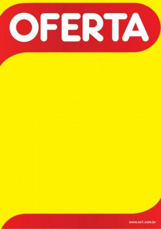 Cartaz oferta amarelo papel A5 14,85x10,5 Cm - (pacote com 100 folhas)