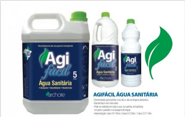 Água Sanitária Agi Facil (1L, 2L e 5L) - Alcool Gel 67, Alcool Gel Acendedor, Removedor e Querosene